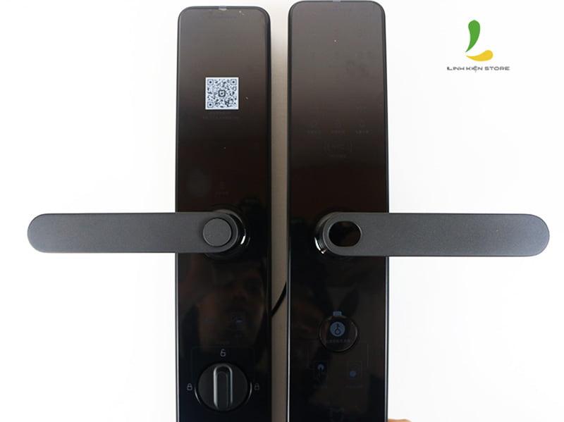 Bảng điều khiển chống trầy khóa cửa vân tay Xiaomi Mijia đen bản nâng cấp 2020