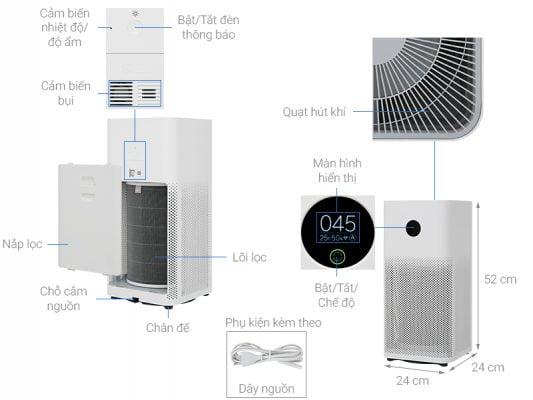 may loc khong khi xiaomi 3h mi air purifier 3h