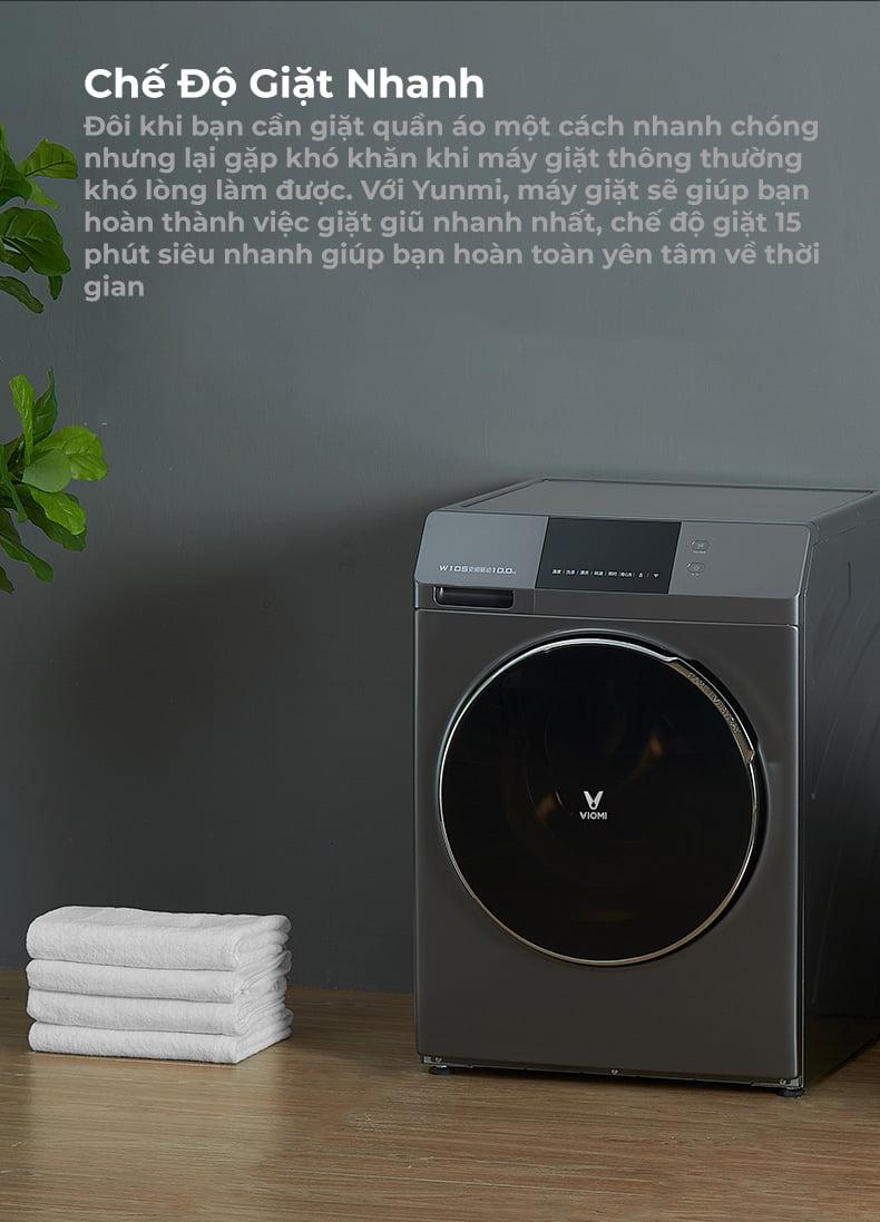 Máy Giặt Chuyển Đổi Tần Số Tự Động 10kg Xiaqomi Viomi
