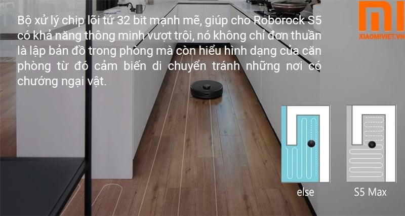 Robot hút bụi lau nhà Xiaomi Roborock S5 Max Quốc Tế