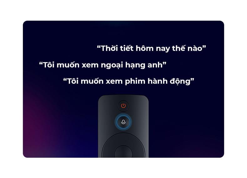 Tivi Xiaomi 4S 43 inch tìm kiếm thông minh bằng giọng nói