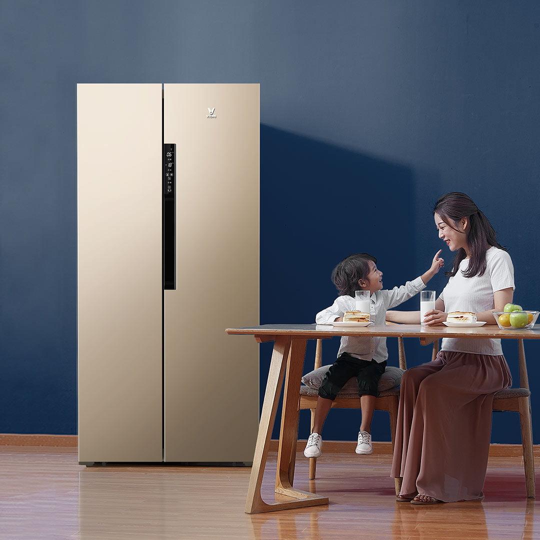 Tủ lạnh Xiaomi 456L trang bị vật liệu thép không gỉ