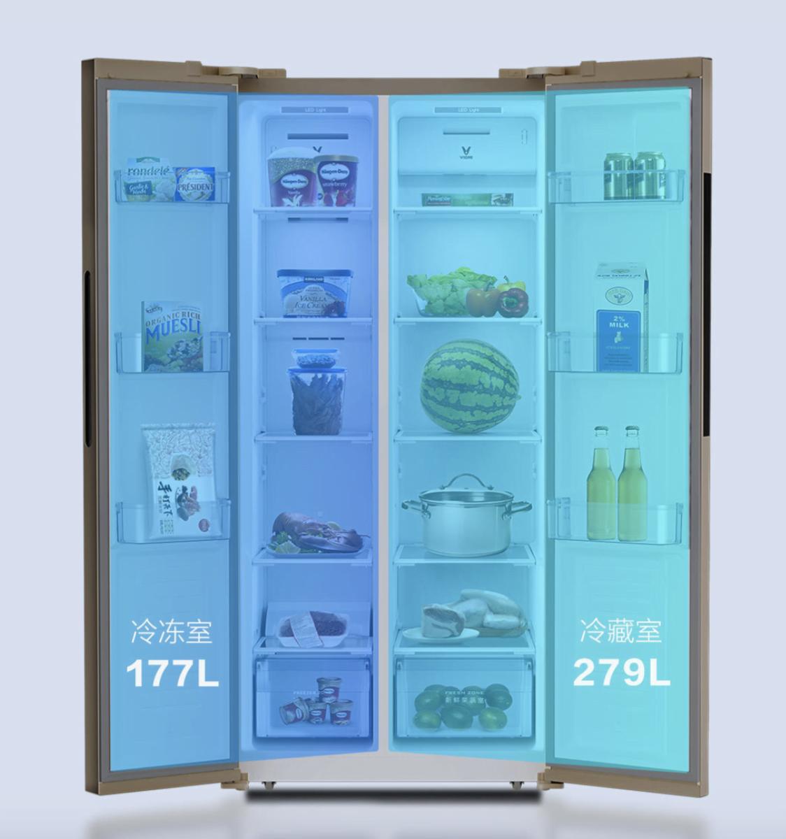 Thiết kế tủ lạnh Xiaomi Viomi với 2 cánh vô cùng tiện lợi