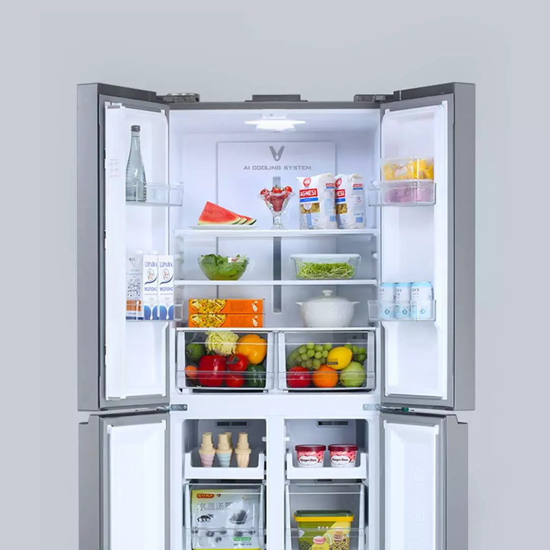 Tủ Lạnh Xiaomi 489L 4 Cánh ngăn chứa thoải mái sử dụng